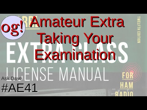 Amateur Extra Lesson on Preparation for Test Taking