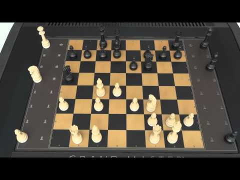 MILTON BRADLEY GRANDMASTER COMPUTER CHESS GAME PLAYS ITSELF TO CHECKMATE