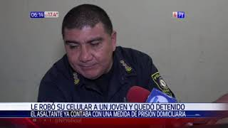 Hombre con arresto domiciliario es detenido tras presunto robo en la vía pública