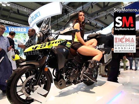 Suzuki GSX-S750 y Suzuki V-Strom 250 2017 (EICMA 2016)