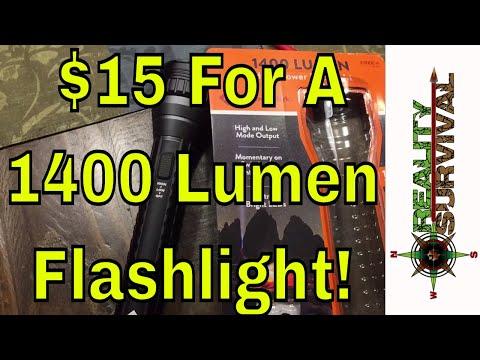 Great Deal Alert! 1400 Lumen LED Flashlight