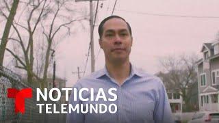 Julián Castro anunció su respaldo a la senadora Elizabeth Warren   Noticias Telemundo