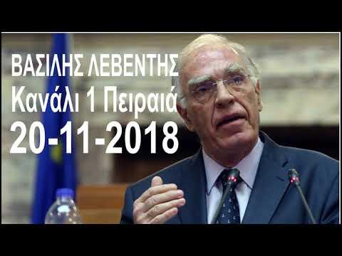 Βασίλης Λεβέντης για την ουδετερότητα της Εκκλησίας (20-11-2018, Κανάλι 1 Πειραιά)