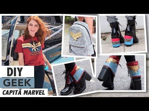 DIY Customizando Roupas - Especial Geek Capitã Marvel