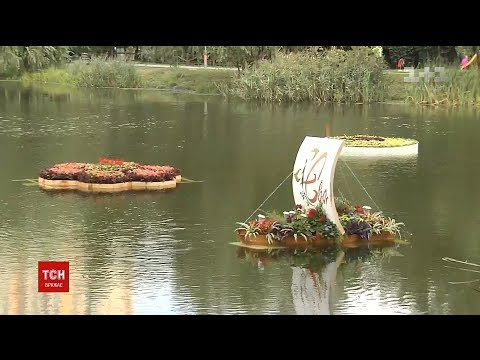 У парку Перемоги на столичній Дарниці з'явилися клумби на воді