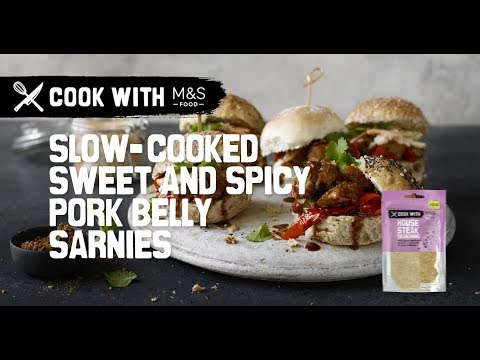 marksandspencer.com & Marks and Spencer Promo Code video: M&S | Cook With M&S... slow-cooked sweet and spicy pork belly sliders
