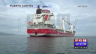 Continúan protocolos previo a descarga de hospitales móviles en Puerto Cortés