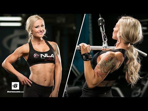 Sculpted Back & Biceps Gym Workout Routine | IFBB Bikini Pro Amy Updike