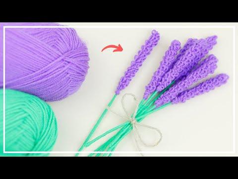 Без крючка и спиц ЛЕГКО! Удивительные Цветы ЛАВАНДЫ из Пряжи 💜 Easy Lavender Flower Making Idea -DIY