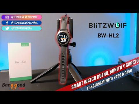 ☑️ BLITZWOLF BW HL2 2020 SMARTWATCH BARATO Y DE EXCELENTE CALIDAD! desempaquetado y revisado.