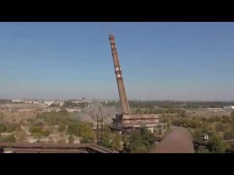 Опубликовано видео подрыва трубы «Запорожстали»