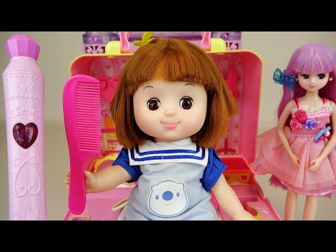 Baby doll color pen hair shop toy baby Doli play