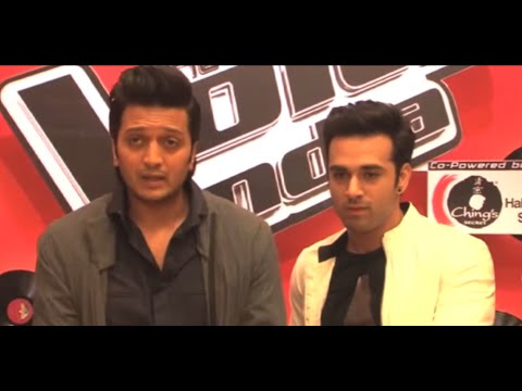 Riteish & Pulkit Spotted On The Sets Of 'The Voice India'