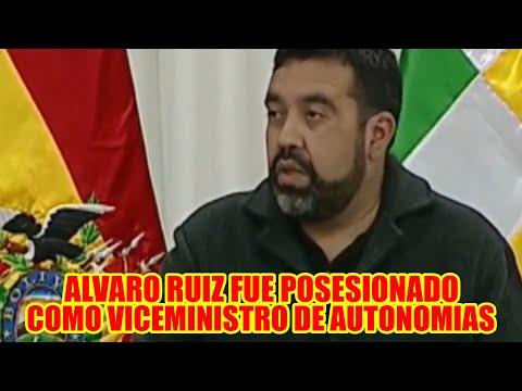 ALVARO RUIZ FUE POSESIONADO COMO NUEVO VICEMINISTRO  DE AUTONOMIAS..