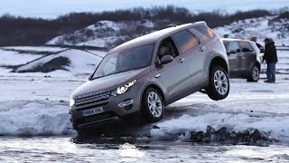 Icy adventure in the Land Rover Discovery Sport