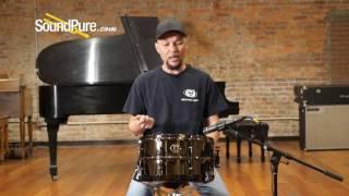 Ludwig 7x13 Black Magic Brass Snare Drum