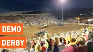 Debris Flies Into Crowd at Demolition Derby 2016