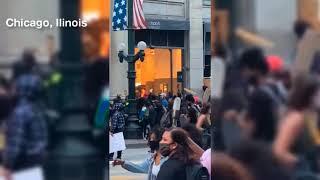 Protestas por asesinato de George Floyd terminan en saqueos en varias ciudades de Estados Unidos