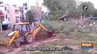 COVID-19: Body laid to rest using JCB machine in AP's Tirupati - INDIATV