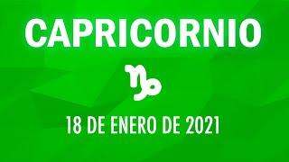 ? Horoscopo De Hoy Capricornio - 18 de Enero de 2021