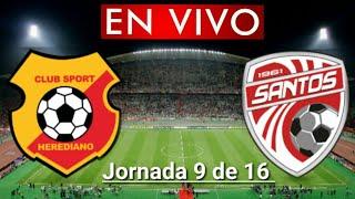 Donde ver Herediano vs. Santos en vivo, por la Jornada 9 de 16, Liga Costa Rica