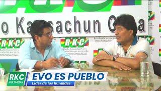Radio Kawsachun Coca En entrevista a Evo Morales Rumbo al Ampliado departamental de evaluación
