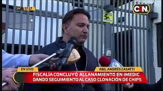 Allanamiento en Imedic S.A - Dr. Andrés Casati