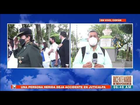 Copán rinde homenaje a la patria hoy en el #BicentenarioHonduras #EnHCHllevamosaene