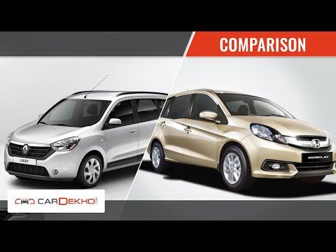 Renault Lodgy Vs Honda Mobilio Comparison Review Renault Videos