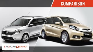 Renault Lodgy vs Honda Mobilio | Comparison Review | CarDekho.com - Renault Videos