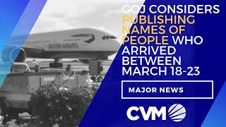 GOJ Considers Publishing Names Of  The  People Who Arrived Between March 18-23 | News | CVMTV