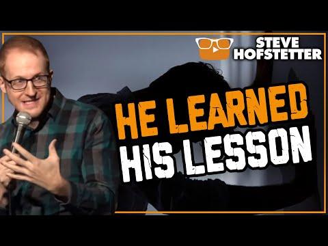 connectYoutube - Heckler has instant regret - Steve Hofstetter