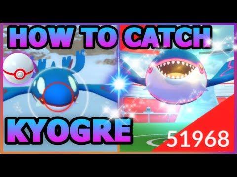 connectYoutube - HOW TO CATCH KYOGRE IN POKEMON GO   3 LEGENDARY KYOGRE RAIDS