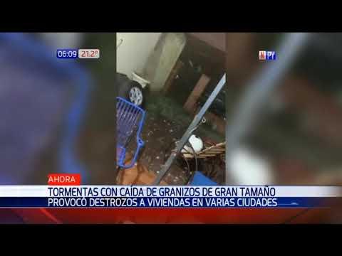 Granizos de gran tamaño provocan destrozos en varias ciudades de Central