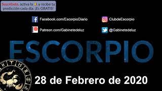 Horóscopo Diario - Escorpio - 28 de Febrero de 2020