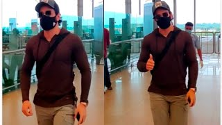 Akkineni Akhil Spotted At Hyderabad Airport | Celebrities Airport Videos - TFPC