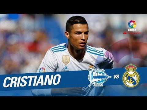 Regate de Cristiano Ronaldo y disparo que se estrella en el palo