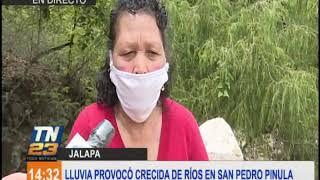 Desbordamiento de río en San Pedro Pinula