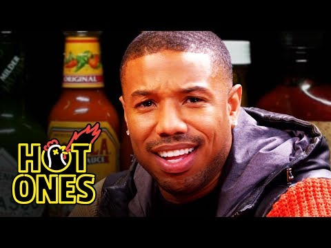 connectYoutube - Michael B. Jordan Gets Knocked Out By Spicy Wings | Hot Ones