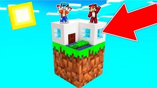 Minecraft PERO hacemos una CASA en 1 BLOQUE ????????  TIMBA Y RAPTOR Ep2
