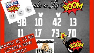BOOM!! EL 13 EN LA LOTERIA NEW YORK!!!????????????