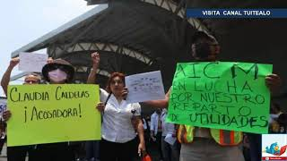 Manifestantes bloquean AICM exigen pago de utilidades
