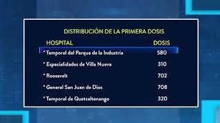 Cuatro hospitales reciben segunda dosis de la vacuna contra el COVID-19