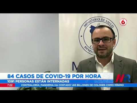 Costa Rica registró 84 casos Covid 19 por hora en una semana