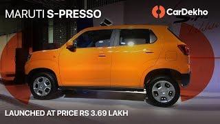 मारुति एस-प्रेसो detailed walkaround in हिंदी | launch कीमत 3.69 लाख | cardekho