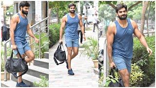 Actor Kartikeya Exclusive Visuals @ Hyderabad Gym Outside | Celebrities Gym Videos | TFPC - TFPC