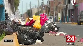 Callao: calles repletas de basura tras huelga de trabajadores de la limpieza pública