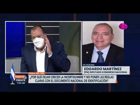 Diputado Edgardo Martínez pide buscar mecanismo para votar con vieja identidad