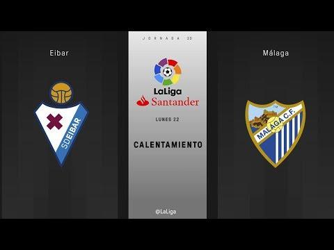 Calentamiento Eibar vs Málaga