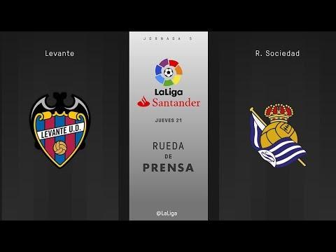 Rueda de prensa Levante vs R. Sociedad